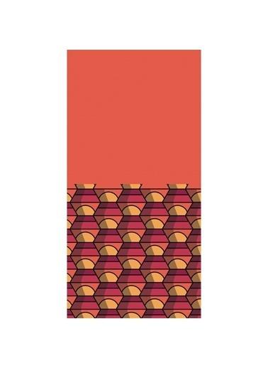 Artikel Geometrik Desenli -3 Dekoratif Çift Taraflı Yastık Kırlent Kılıfı 45x45 cm Renkli
